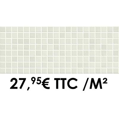 Faïence 20x50 cm Mosaïque Blanc (Boîte de 1,40 m²)