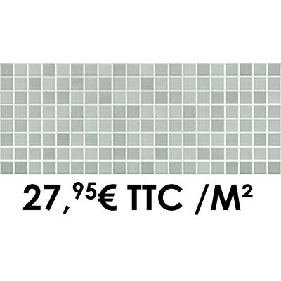 Faïence 20x50 cm Mosaïque Gris (Boîte de 1,40 m²)