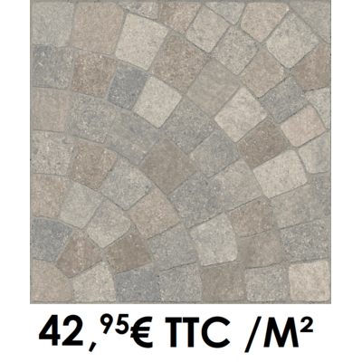 Carrelage 20mm 60x60cm GMP 500 Pierre