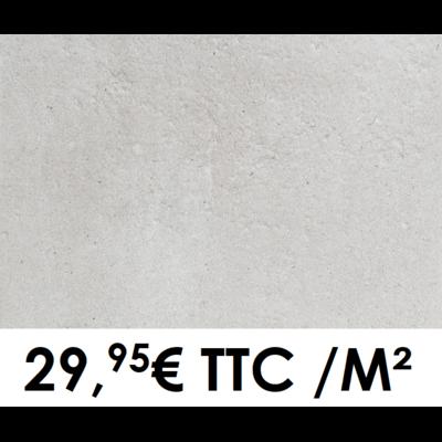 Carrelage 40x60cm Pierre de Bourgogne Blanc