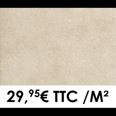 Carrelage 40x60cm Pierre de Bourgogne Beige