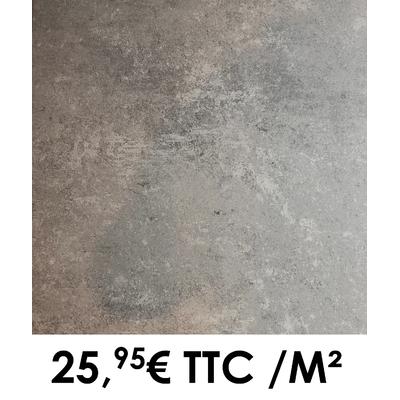 Carrelage 60x60cm Saumur Acier