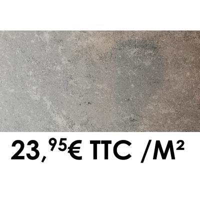Carrelage 30x60cm Saumur Acier