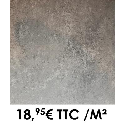 Carrelage 34x34cm Saumur Acier