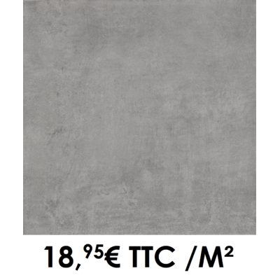 Carrelage 34x34cm Béton Anthracite