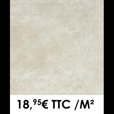 Carrelage 34x34cm Béton Beige