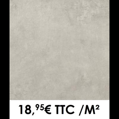 Carrelage 34x34cm Béton Gris