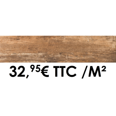Carrelage 19x80cm Cortina Noisette
