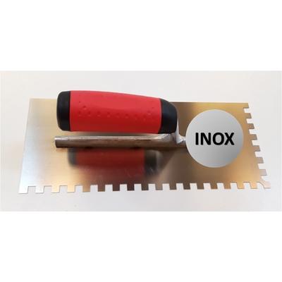 Platoir à colle INOX dents carrées 8x8mm (28x12cm)