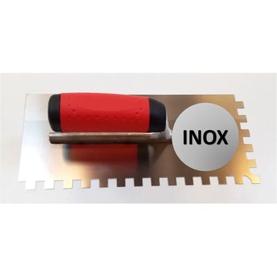 Platoir à colle INOX dents carrées 10x10mm (28x12cm)