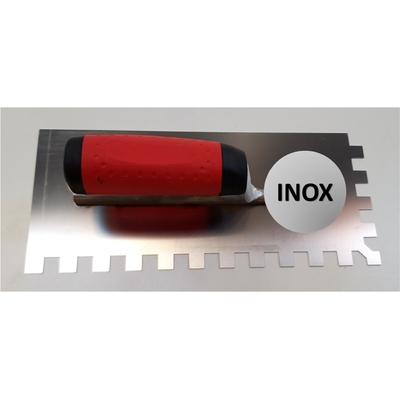 Platoir à colle INOX dents carrées 12x12mm (28x12cm)