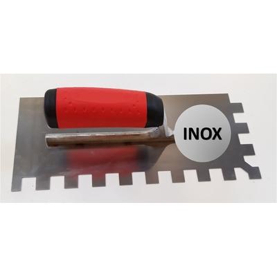 Platoir à colle INOX dents carrées 15x15mm (28x12cm)