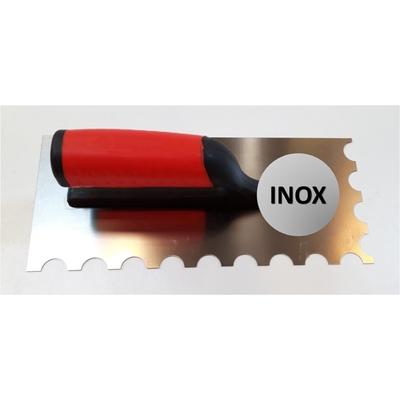 Platoir à colle INOX dents demi-lune 20x10mm (28x12cm)