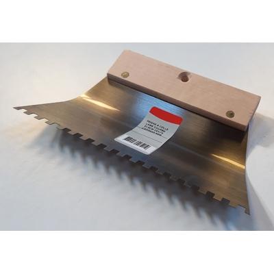 Peigne à colle lame courbe dents carrées 6x6mm (21,6cm)