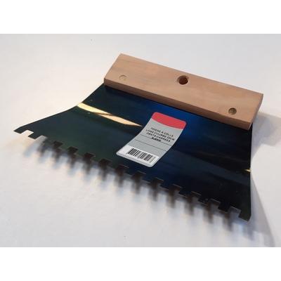 Peigne à colle lame courbe dents carrées 8x8mm (21,6cm)