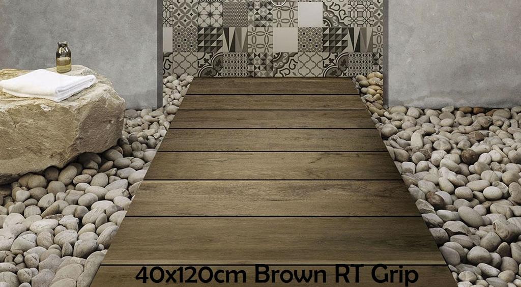 Marazzi 40x120cm Treverkdear20 Brown RT Grip