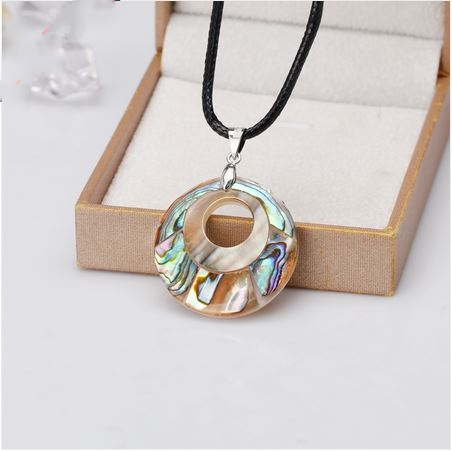 Collier DONUTS nacre abalone double couche - Angel shop