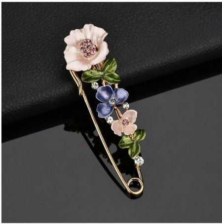 Broche fleurs épingle habits - Angel shop