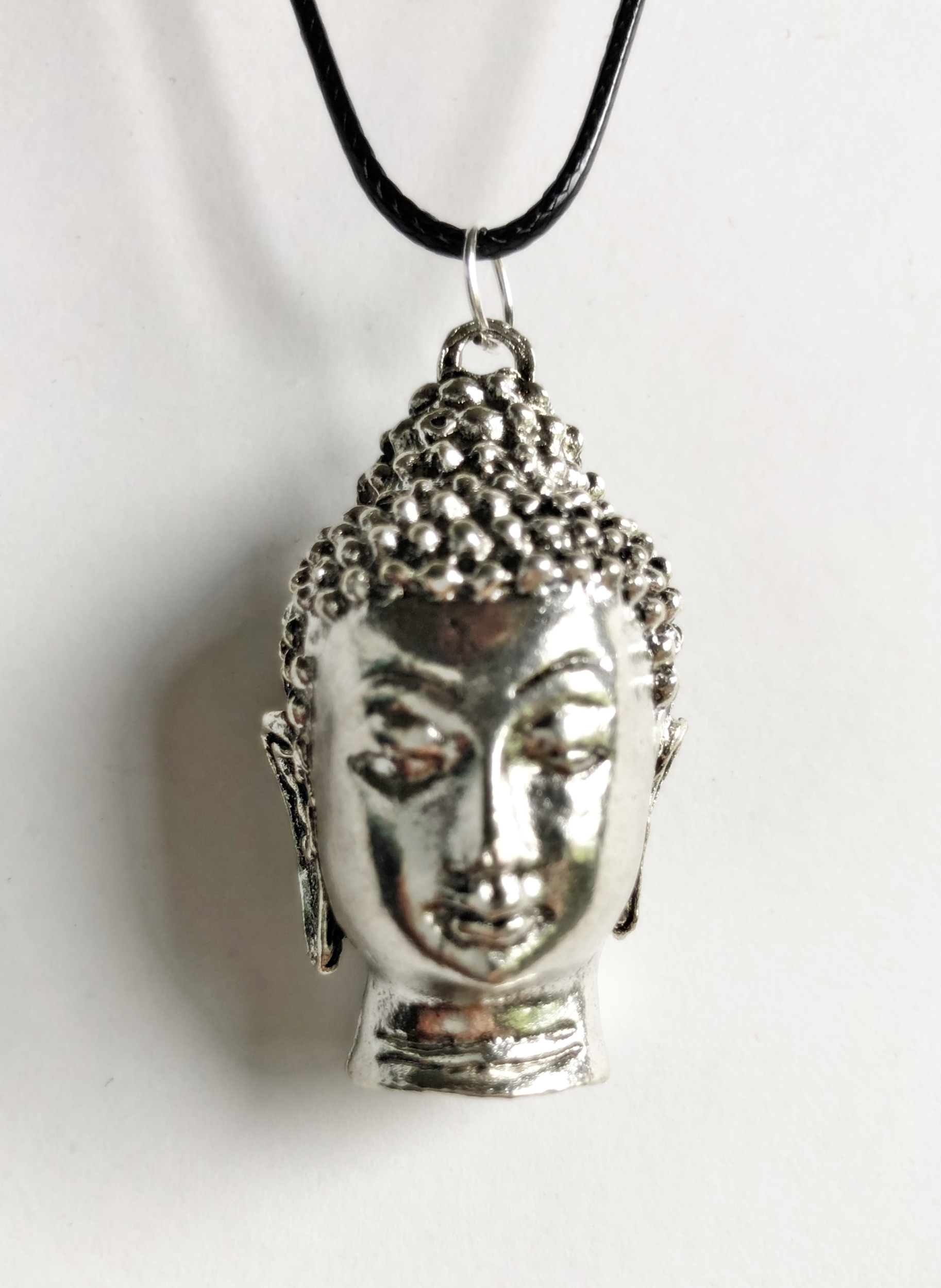 Collier bouddha argent tibétain - Angel shop