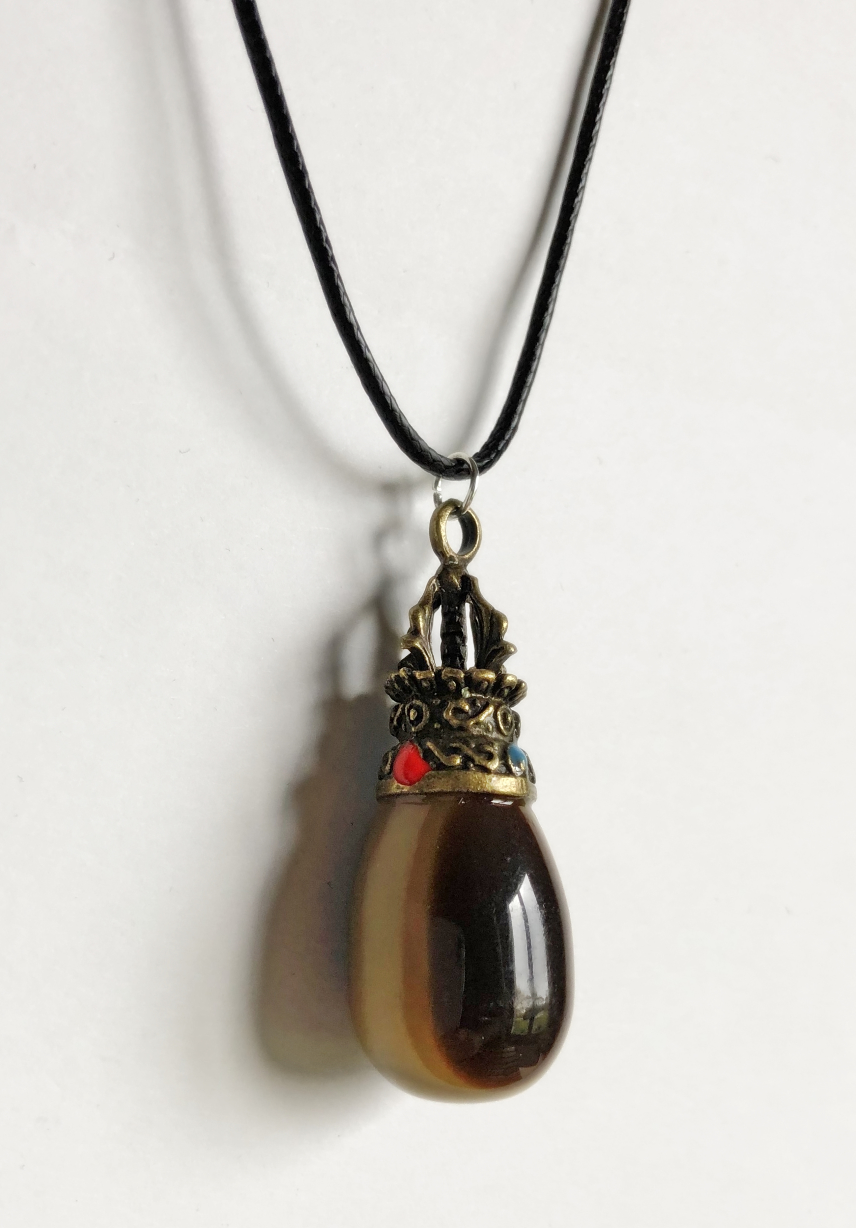 Collier agate boswana forme goutte - Angel shop