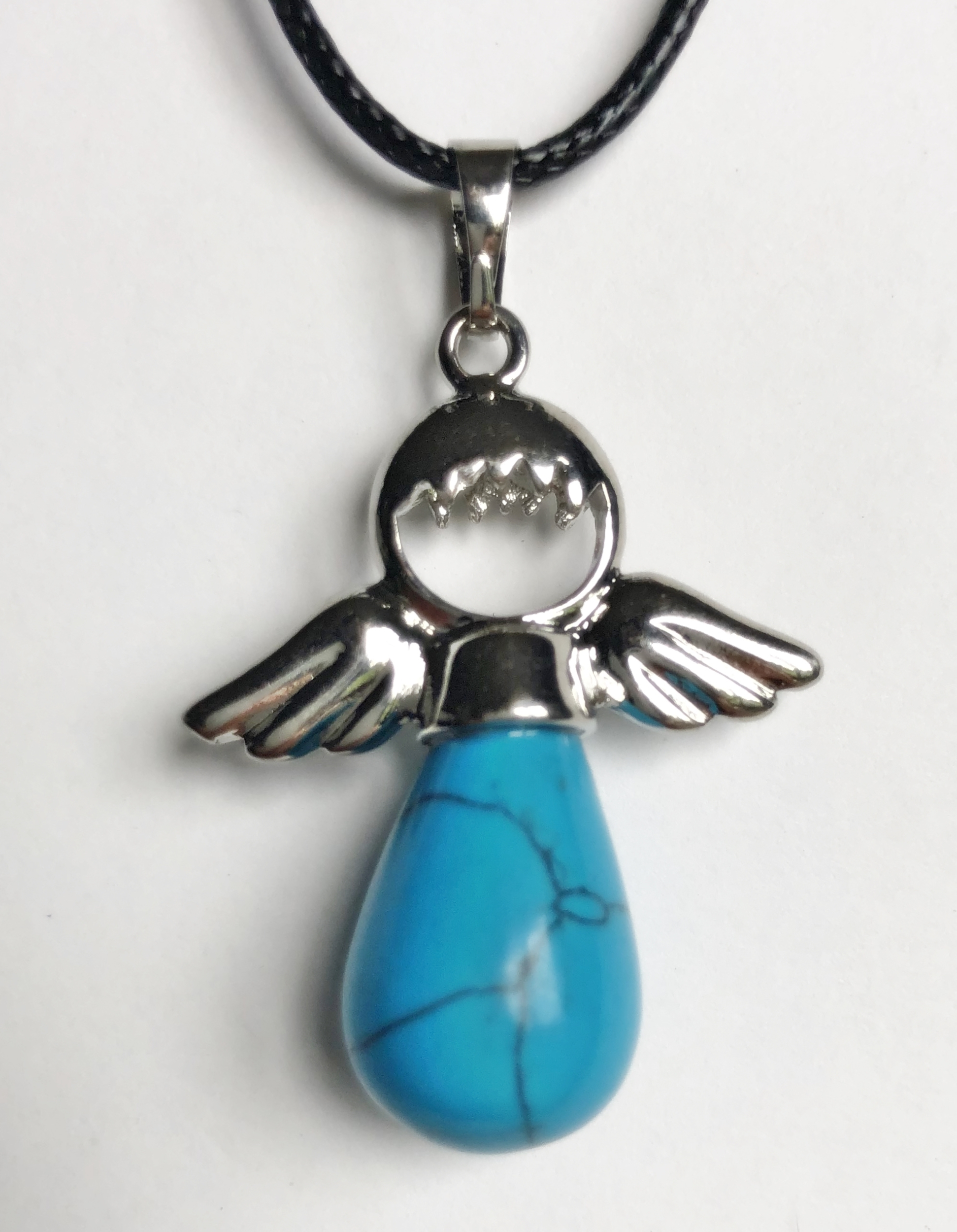 Collier ange d\'amour turquoise - Angel shop