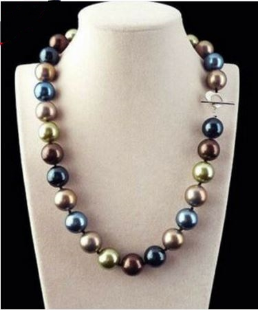 Collier perles de culture multicolors - Angel shop