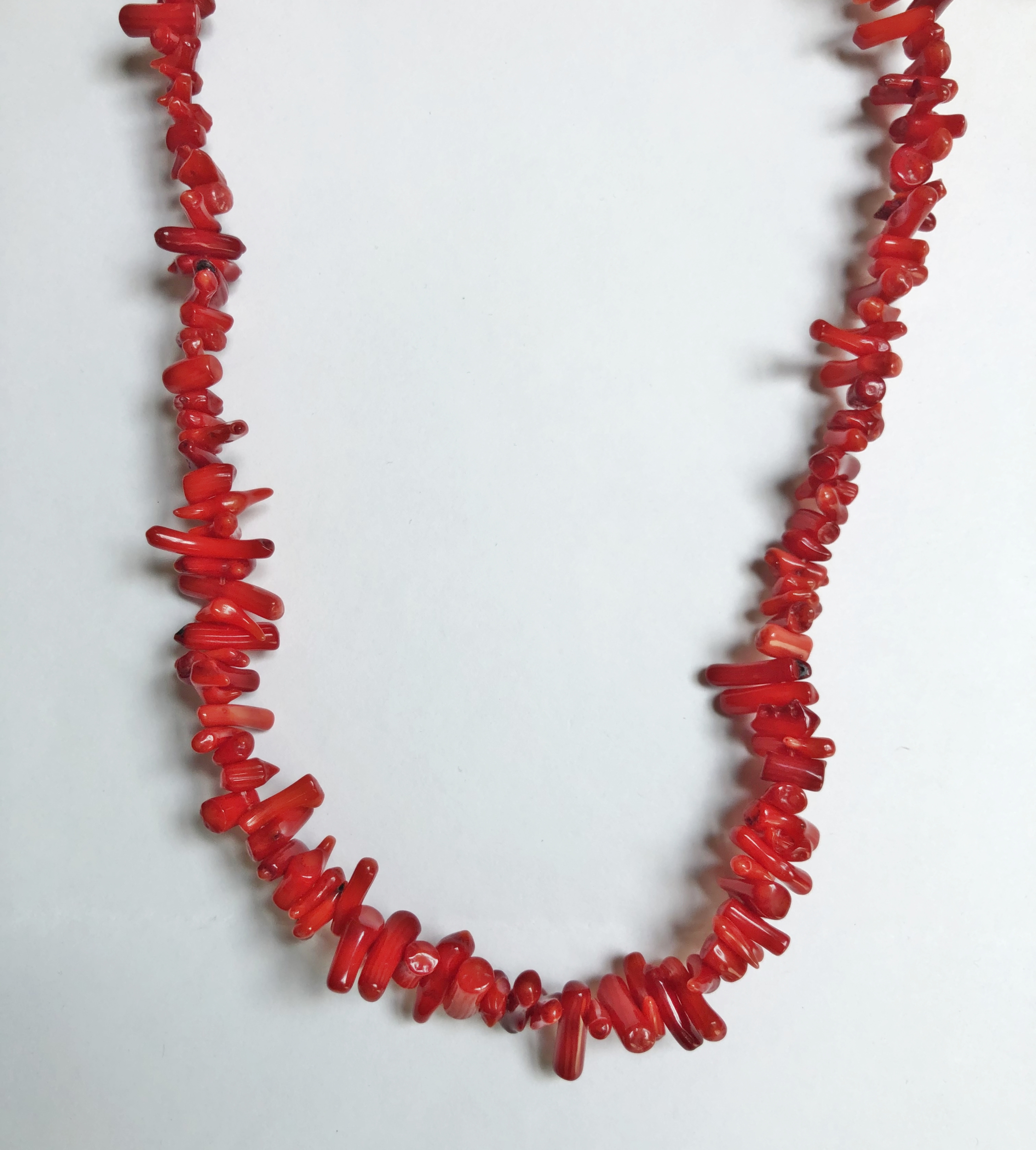Collier corail rouge naturel - Angel shop