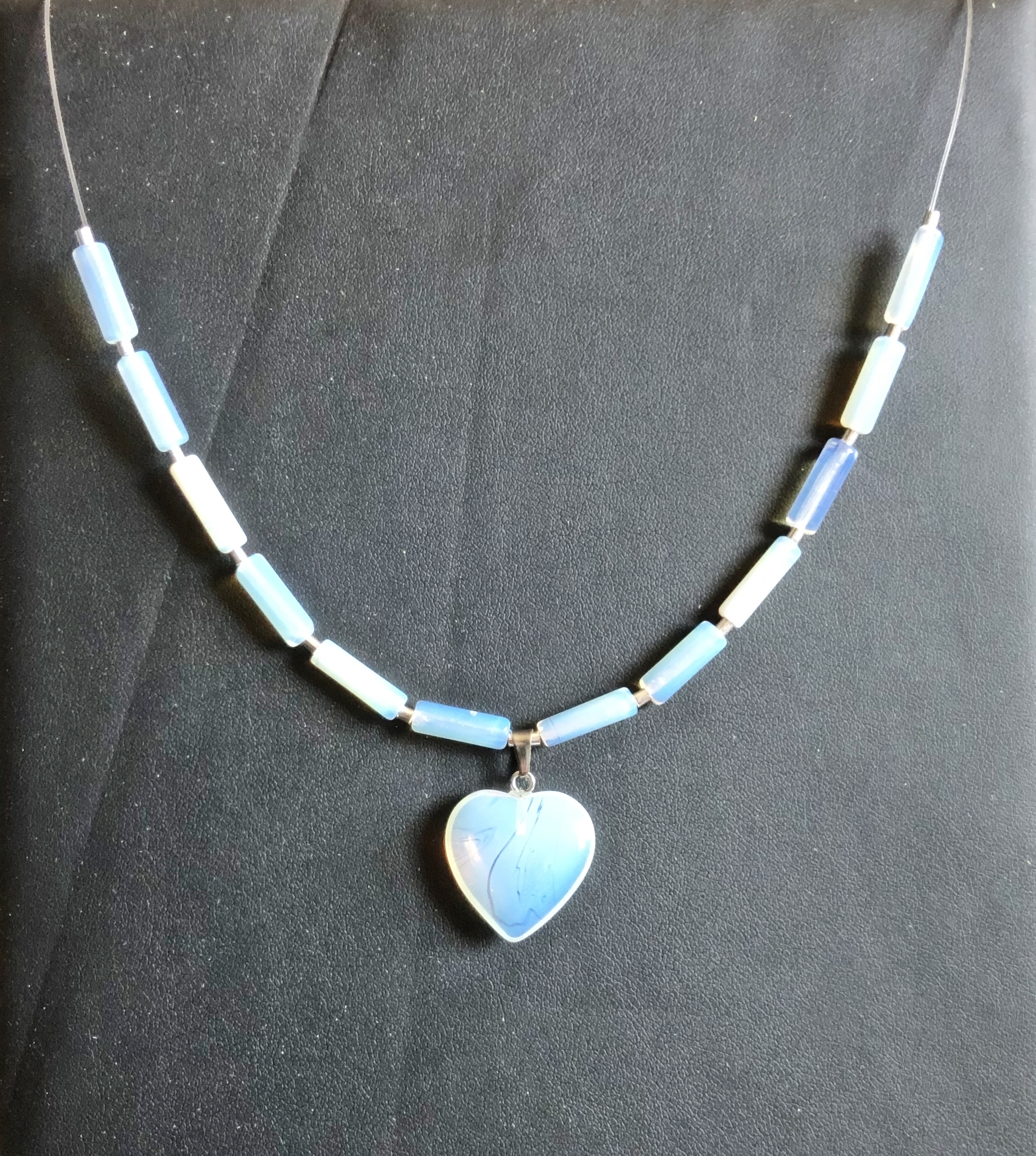 Collier fil coeur opalite  - Angel shop