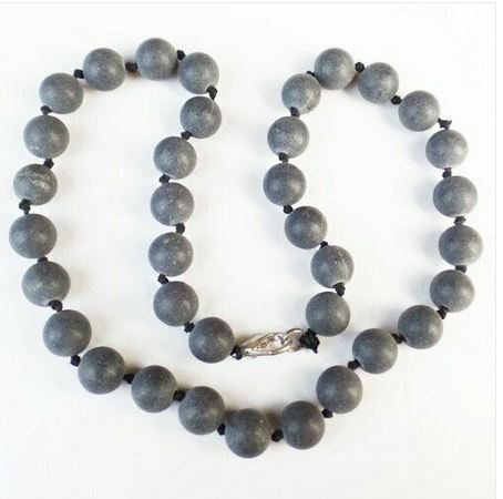 Collier agate noire mate - Angel