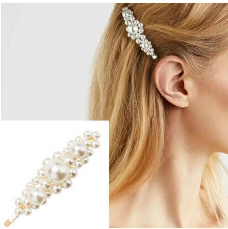 Barrette 3 grosses perles - Angel shop