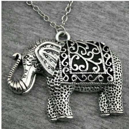 Collier éléphant argent tibétain - Angel shop