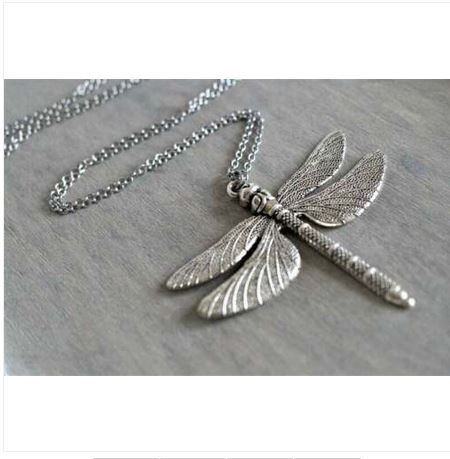 Collier libellule argent tibétain - Angel shop