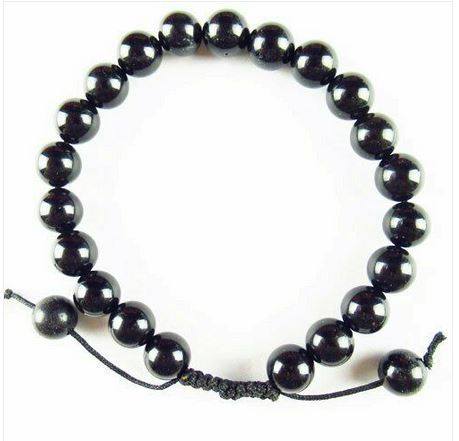 Bracelet ajustable agate noire - Angel shop