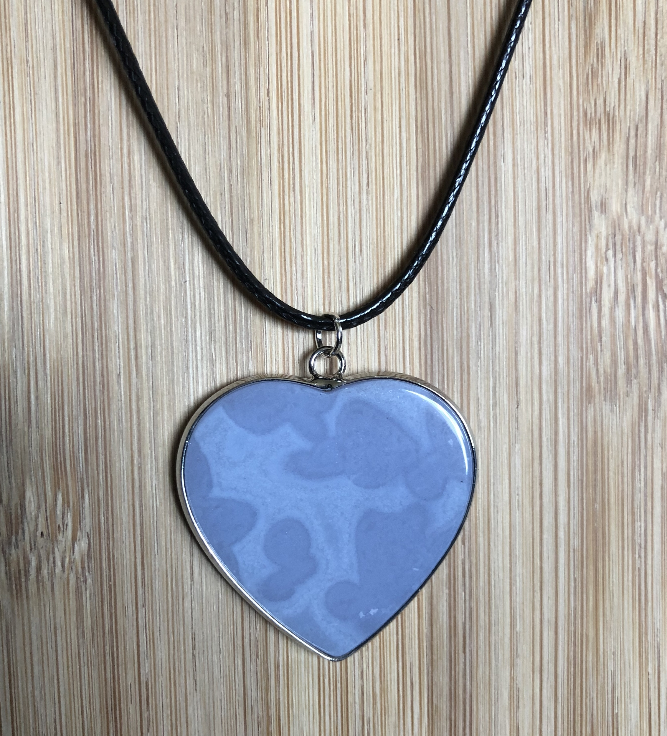 Collier coeur cristal bleu cerclé - Angel shop