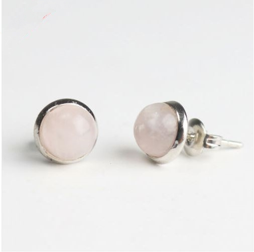 Boucles d\'oreilles QUARTZ ROSE puces - Angel shop