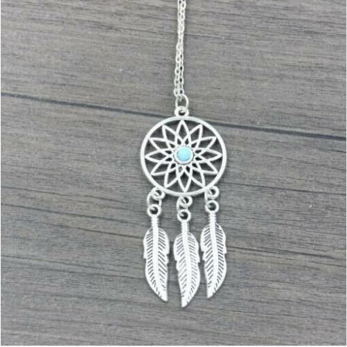 Collier ATTRAPE REVES turquoise argent - Angel shop