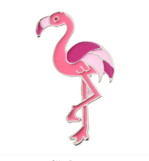 Broche flamant rose - Angel shop