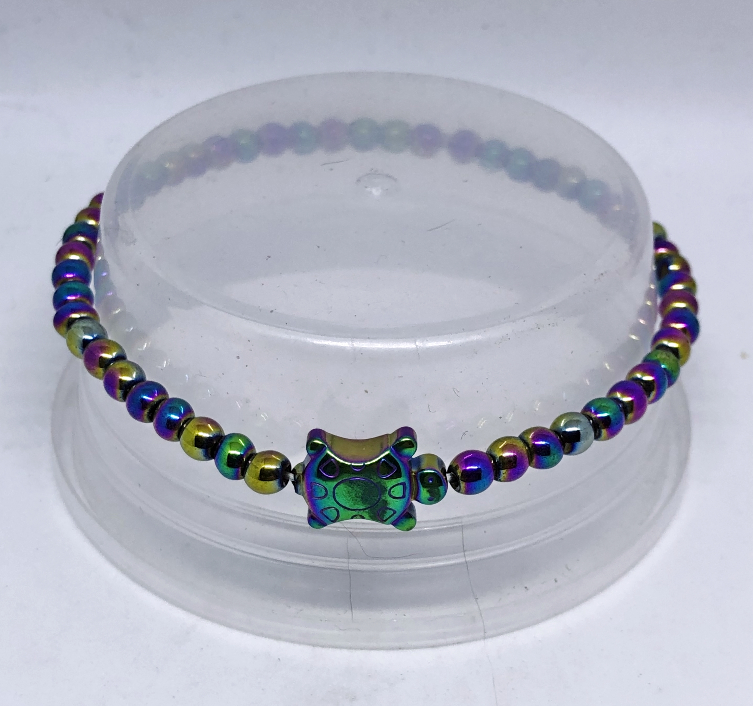 Bracelet tortue hematite non magnetique rainbow - Angel Shop