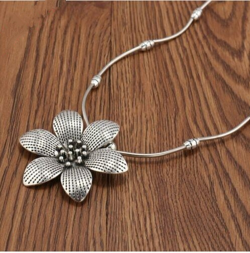 Collier IRIS argent tibétain - Angel shop