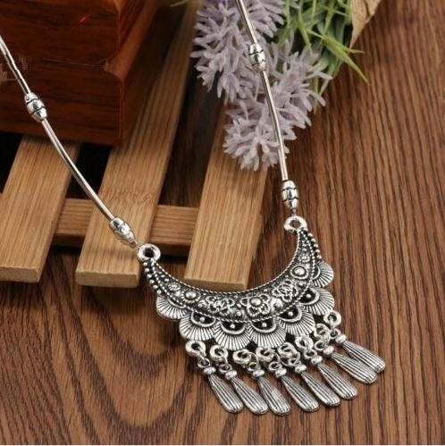 Collier NATALYA argent tibétain - Angel shop