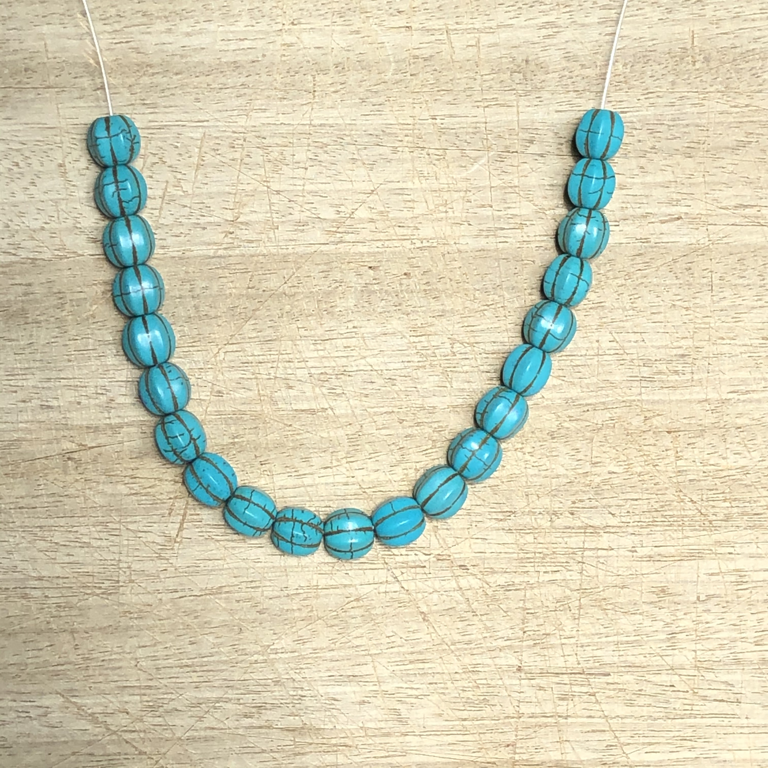 Collier fil CABOSSE turquoise  - Angel shop