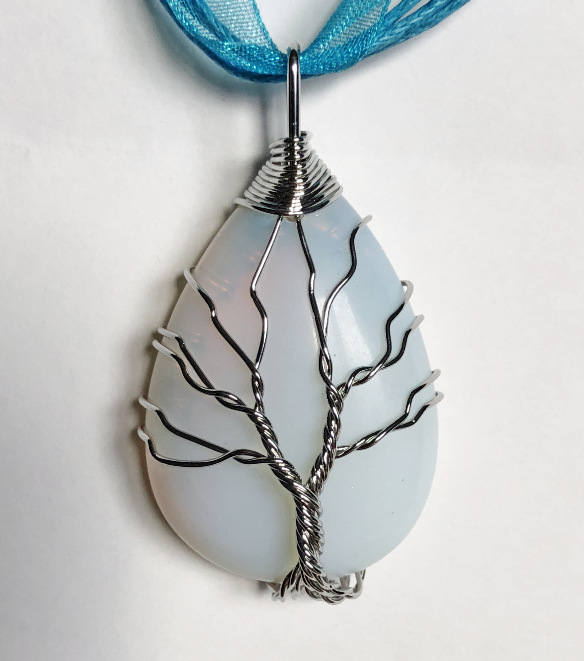 Collier arbre de vie opale - Angel shop