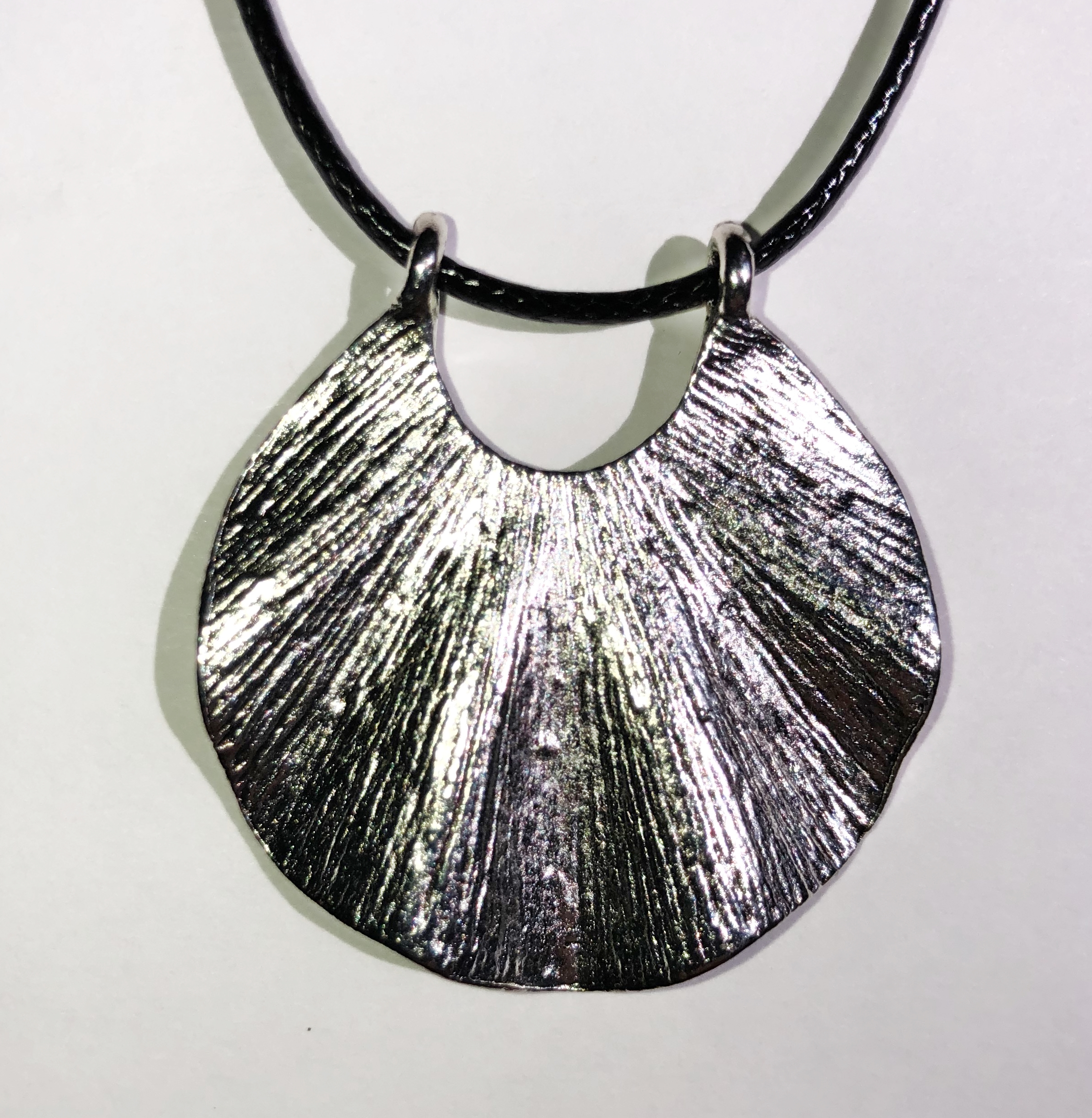 Collier feuille argent tibétain - Angel shop