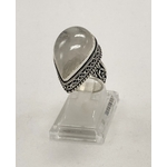 Bague pierre de lune forme goutte montage antique argent 925 - Angel shop 3