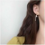 Boucles doreilles perles blanches strass Anne-Marie puces - Angel shop 2
