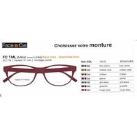Lunettes Face & Cie - FC1ML - Métal (Face et Branches Inox)