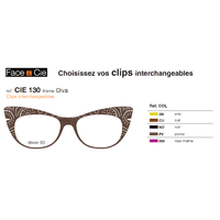 Clips Face & Cie - CIE 130 - Thème Diva