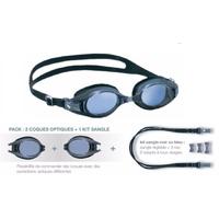 Lunettes de natation à la vue - V500 Gris