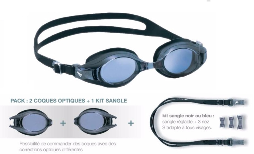 Lunettes de natation à la vue - V500 Gris - Sport à la vue Lunettes ... bba7fee53205