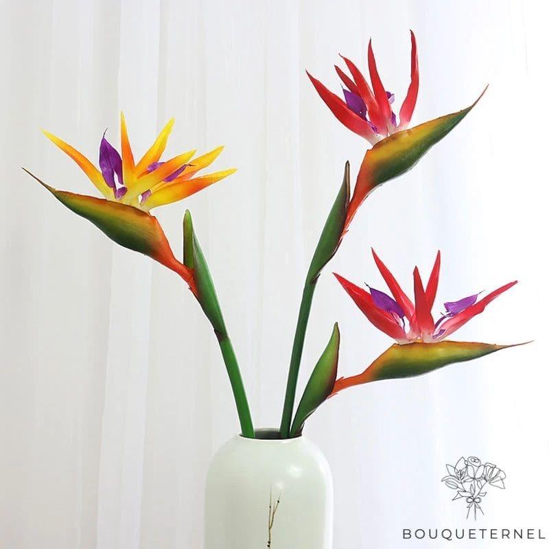 Fleurs Oiseau de Paradis Reginae Artificielles